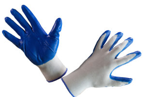 Перчатки нейлоновые с нитриловым покрытием «МАКСИ», облив люкс