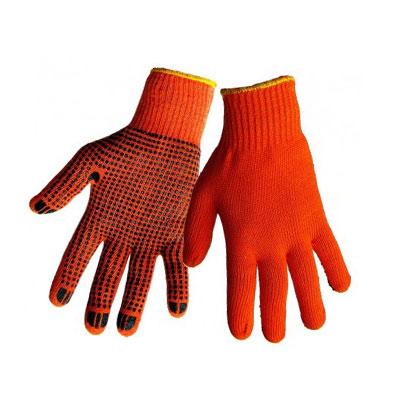 Перчатки акриловые с ПВХ утепленные