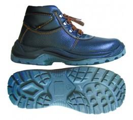 Ботинки юфть ПУ-ПУ с МП с мехом