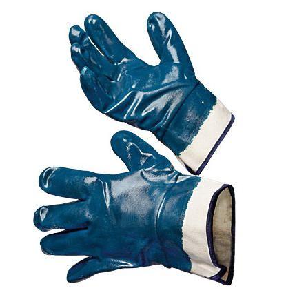 Перчатки нитриловые, манжет-крага полный облив